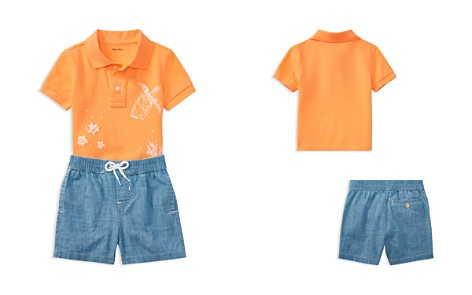 Ralph Lauren Boys' Mesh Graphic Polo & Chambray Shorts Set - Baby - Bloomingdale's_2