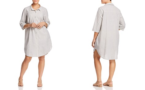 Eileen Fisher Plus Striped Shirt Dress - Bloomingdale's_2