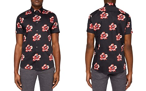 Ted Baker Silky Floral Print Regular Fit Button-Down Shirt - Bloomingdale's_2