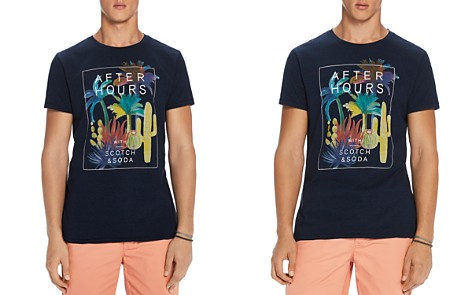 Scotch & Soda After Hours Melange Graphic Jersey Tee - Bloomingdale's_2