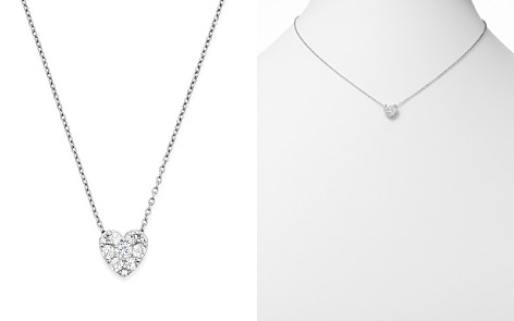 Diamond Heart Pendant Necklace in 14K White Gold, .50 ct. t.w. - Bloomingdale's_2