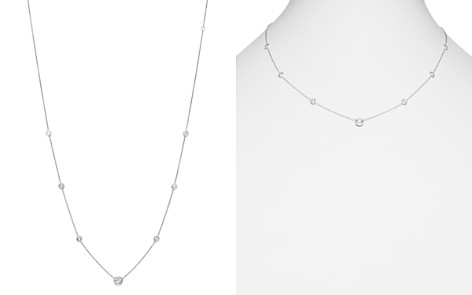 Diamond Station Necklace in 18K White Gold, 1.0 ct. t.w. - Bloomingdale's_2