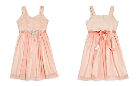US Angels Girls' Ruched Mesh Dress - Big Kid - Bloomingdale's_2