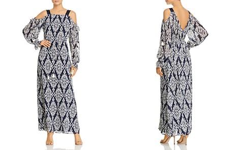 Tory Burch Katherine Printed Cold-Shoulder Wrap Dress - Bloomingdale's_2