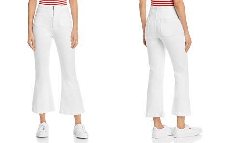 Current/Elliott The Ultra High-Rise Cropped Flared Jeans in Sugar - Bloomingdale's_2