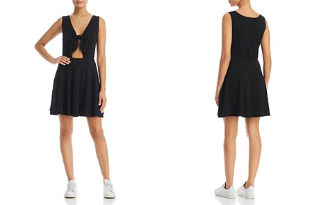 Three Dots Knot-Front Fit-and-Flare Dress - Bloomingdale's_2
