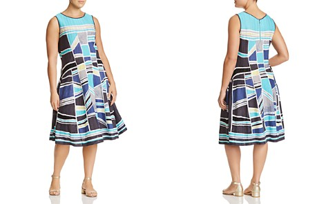 NIC+ZOE Plus Going Places Printed Twirl Dress - Bloomingdale's_2