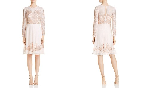 Aidan Mattox Embellished Lace Cocktail Dress - Bloomingdale's_2