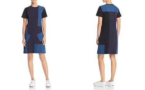 McQ Alexander McQueen Denim Patchwork Dress - Bloomingdale's_2