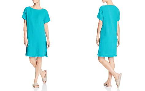 Eileen Fisher Frayed-Hem Organic Cotton Dress - Bloomingdale's_2