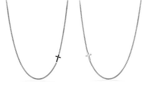 David Yurman Pavé Cross Necklace with Black Diamonds - Bloomingdale's_2