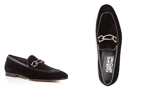 Salvatore Ferragamo Men's Velvet & Patent Leather Apron Toe Loafers - Bloomingdale's_2