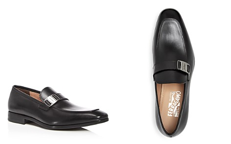 Salvatore Ferragamo Men's Leather Apron Toe Loafers - Bloomingdale's_2