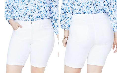 NYDJ Plus Briella Roll-Cuff Bermuda Shorts in Optic White - Bloomingdale's_2