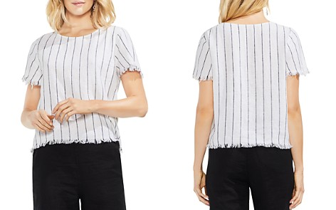 VINCE CAMUTO Frayed Pinstripe Top - Bloomingdale's_2