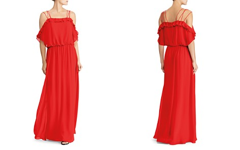 Lauren Ralph Lauren Cold-Shoulder Georgette Gown - Bloomingdale's_2