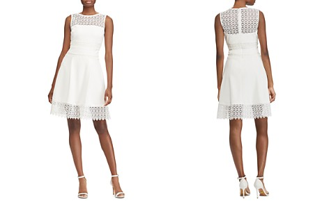 Lauren Ralph Lauren Petites Lace-Inset Crepe Dress - Bloomingdale's_2