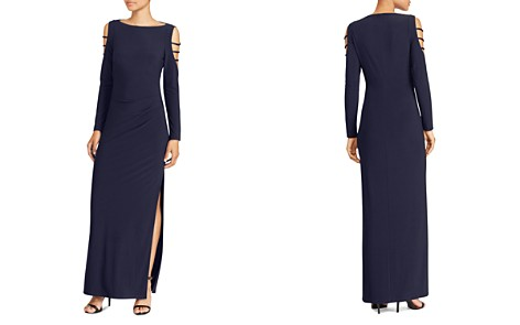 Lauren Ralph Lauren Embellished Cold-Shoulder Jersey Gown - Bloomingdale's_2