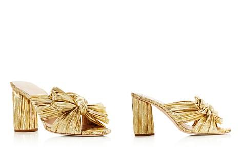 Loeffler Randall Women's Penny Pleated Metallic High-Heel Slide Sandals - Bloomingdale's_2