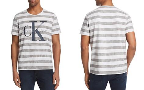 Calvin Klein Tie Dye Stripe Reissue Logo Tee - Bloomingdale's_2