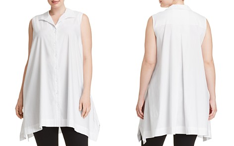 Foxcroft Plus Button-Down Handkerchief Tunic - Bloomingdale's_2