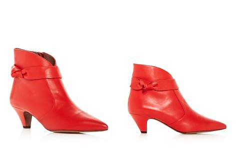 Tabitha Simmons Women's Nixie Leather Kitten Heel Pointed Toe Booties - Bloomingdale's_2