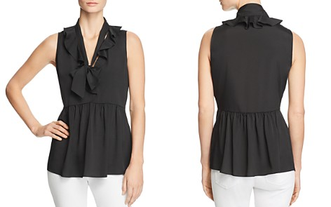 Le Gali Clancey Tie-Neck Peplum Top - 100% Exclusive - Bloomingdale's_2