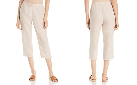Eileen Fisher Cropped Straight-Leg Linen Pants - Bloomingdale's_2