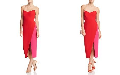 Jill Jill Stuart Strapless Color-Blocked Crepe Dress - Bloomingdale's_2