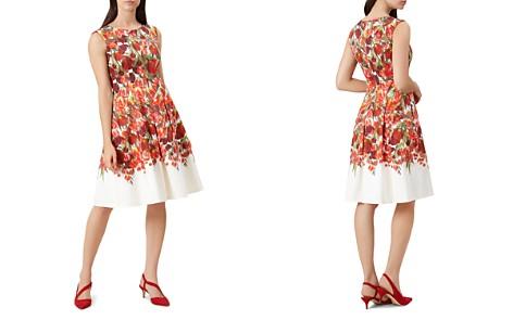 HOBBS LONDON Nia Pleated Floral Print Dress - Bloomingdale's_2