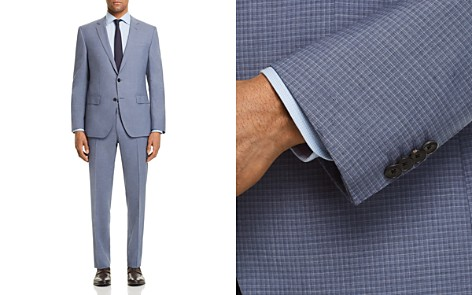 BOSS Huge/Genius Slim Fit Small Check Suit - Bloomingdale's_2