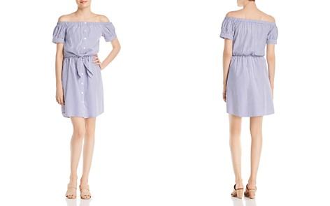Alison Andrews Off-the-Shoulder Pinstripe Shirt Dress - Bloomingdale's_2