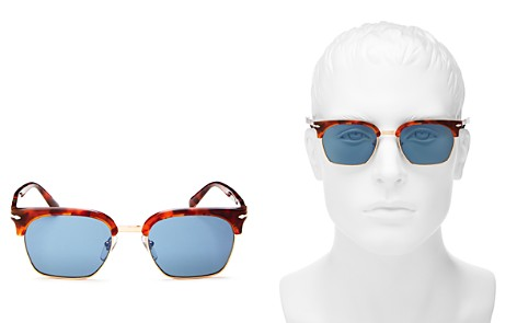 Persol Polarized Square Sunglasses, 53mm - Bloomingdale's_2