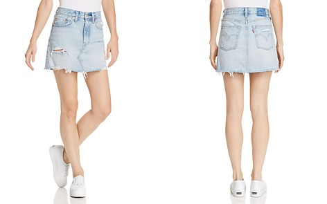Levi's Deconstructed Denim Skirt in What's The Damage - Bloomingdale's_2