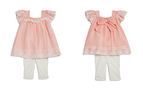 Miniclasix Girls' Lace-Trimmed Bow Top & Capri Leggings Set - Baby - Bloomingdale's_2