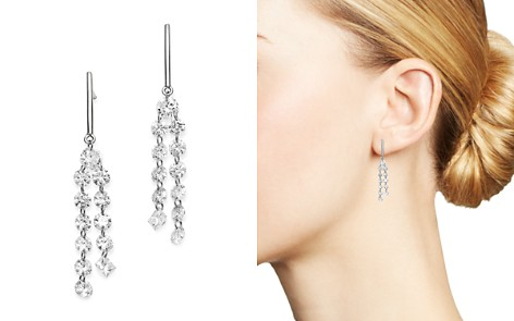 AeroDiamonds 18K White Gold Round & Princess-Cut Diamond Tassel Drop Earrings - Bloomingdale's_2