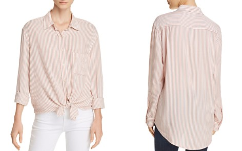7 For All Mankind Striped High/Low Shirt - Bloomingdale's_2