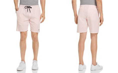 OBEY Cypress Seersucker Striped Regular Fit Shorts - Bloomingdale's_2