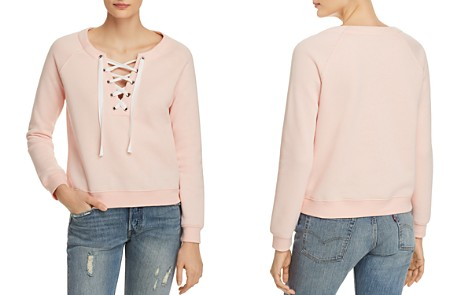 Rebecca Minkoff Raquel Lace-Up Sweatshirt - Bloomingdale's_2