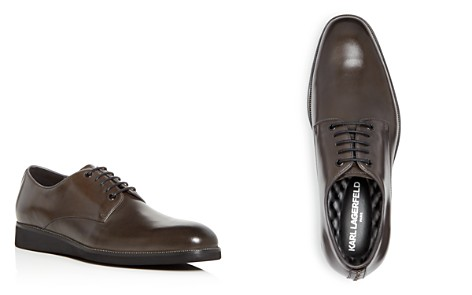 KARL LAGERFELD Men's Leather Plain Toe Oxfords - Bloomingdale's_2