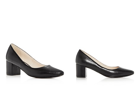 Cole Haan Women's Justine Leather Mid Heel Pumps - Bloomingdale's_2