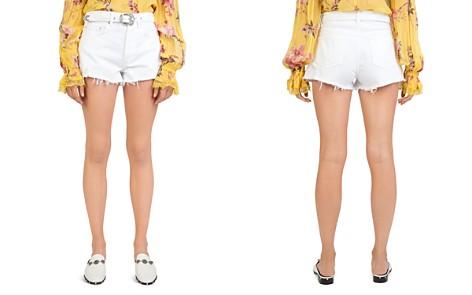 The Kooples Belted Distressed Denim Mini Shorts - Bloomingdale's_2
