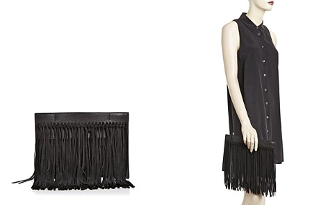 Rebecca Minkoff Stevie Leather & Suede Fringe Clutch - Bloomingdale's_2