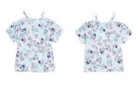 Splendid Girls' Floral-Print Cold-Shoulder Top - Big Kid - Bloomingdale's_2