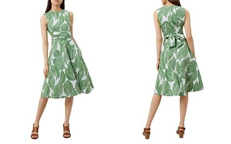 HOBBS LONDON Twitchill Leaf Print Linen Dress - Bloomingdale's_2