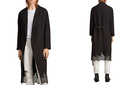 ALLSAINTS Sandra Lace-Hem Wrap Coat - Bloomingdale's_2
