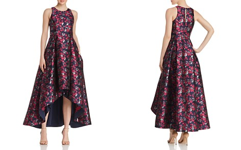 Aidan by Aidan Mattox Floral Jacquard High/Low Ball Gown - Bloomingdale's_2