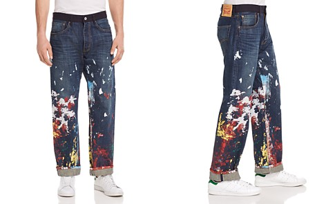 Junya Watanabe x Levi's Painted Straight Fit Jeans in Indigo - Bloomingdale's_2