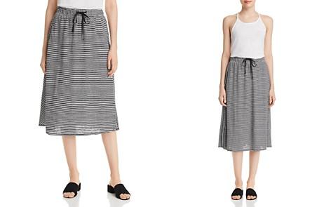 Eileen Fisher Striped Drawstring Midi Skirt - Bloomingdale's_2