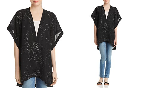 Eileen Fisher Chevron-Print Silk Kimono Jacket - Bloomingdale's_2